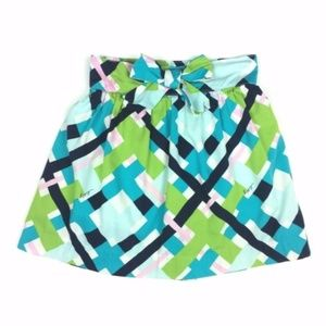 Lilly Pulitzer 5 Plaid Lined Bow Skirt